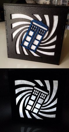 Doctor Who Light Box || this would be a cool idea for the front of a sketchbook