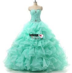 Wholesale 2017 Sweet 15 Dress Stock Green Quinceanera Dresses For 15 Party Formal Prom Party Ball Gowns Cheap
