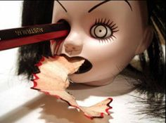 pencil sharpener...creepy....!