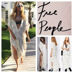 "Free People Cream Combo Poncho Dress A plunging neckline and drapey poncho sleeves accentuate the flowy silhouette of a gauzy, cotton-blend dress that serves as the perfect lightweight look for sun-soaked seasons. Approx 43"" length Slips on over head. Plunging V-neck. Poncho sleeves. Unlined. 50% cotton, 31% rayon, 17% nylon, 1% linen. Hand wash cold, dry flat. Color:  Cream Combo Free People Dresses"