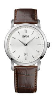 Hugo Boss Stainless Steel Bracelet Watch. Case size 40mm, silver coloured dial, date at 6 o'clock position. 30M WR. £150.00