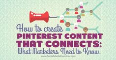Do you use Pinterest for your social media marketing?  Interested in better ways to connect with your audience?  People use Pinterest differently from other social networks. Instead of conversations or news sharing, people use Pinterest to collect information about their interests.  In this article you'll discover what the Pinterest community looks for and how to create pins to get their attention.