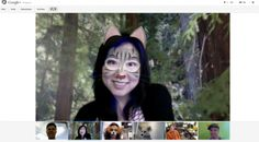 #Google+ #Hangout featuring new mask effects template that turns people into a #cat or #dog!