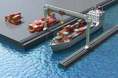 Crane Lifting Cargo Containers and loading onto Ship!