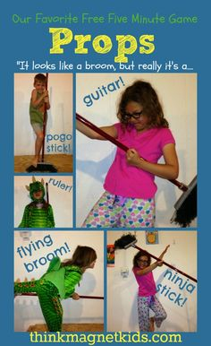 """""""Props"""" is an easy, free, 5 minute creativity building game to play with your kids. #thinkmagnetkids.com"""