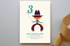 Lasso Cowboy Children's Birthday Party Invitations by community designers at minted.com