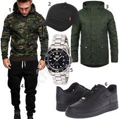 Street-Style für Männer mit Camouflage-Pullover (m0843) #camouflage #jogginghose #invicta #watch #outfit #style #herrenmode #männermode #fashion #menswear #herren #männer #mode #menstyle #mensfashion #menswear #inspiration #cloth #ootd #herrenoutfit #männeroutfit