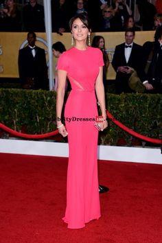 pink red carpet dresses 2013   ... Pink Cap Sleeve Column Celebrity Dresses Sag Awards 2013 Red Carpet