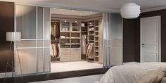 Sliding doors have often carried the whiff of utilitarian, of something garish with mirrors that your parents or grandparents had in their old, out of date bedrooms. California Closets' sliding doors are modern, up-to-date, and incredibly stylish. In fact, they're more often an ideal solution for closets than a standard hinged door.