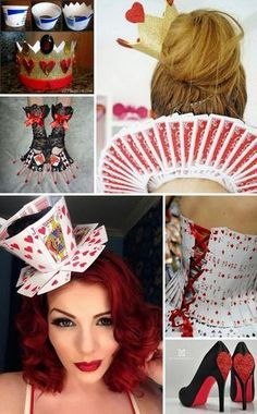 Alice in Wonderland Costumes and DIY Ideas. The world of Alice in Wonderland is, while a little strange and twisted, incredibly fun to recreate. Alice herself is a beautiful character that no girl or woman minds dressing up as for convention… Casino Costumes, Diy Costumes, Pirate Costumes, Cosplay Costumes, Zombie Costumes, Cosplay Diy, Homemade Costumes, Family Costumes, Group Costumes