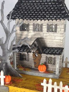 Widow's Walk House with Tim Holtz Roof Die - Scrapbook.com