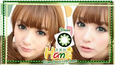 Hana Series Green circle lens.  Shipping Worldwide | Shop @ ContactLensHouse.com