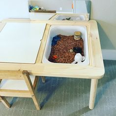 flisat ikea sensory bin & table                                                                                                                                                                                 More
