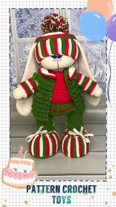 Crochet pattern is provided as a digital file in PDF format and includes 16 pages. Crochet only. Only crochet items of clothing. Crochet Patterns For Beginners, Crochet Toys Patterns, Stuffed Toys Patterns, Doily Patterns, Dress Patterns, Rope Crafts, Craft Stick Crafts, Christmas Tree Hooks, Handmade Toys