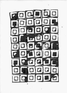 patternprints journal it: BELLISSIME STAMPE ASTRATTE, GEOMETRICHE E SIMMETRICHE NELLE LINOLEOGRAFIE DI AMELIE PETIT MOREAU