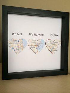 Personalized Anniversary or Wedding Gift 3D Paper von PaperLine #weddinganniversarygifts