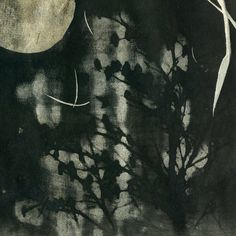 Night Song - Etching polymer gravure solar plate print - by Kelly Tankersley