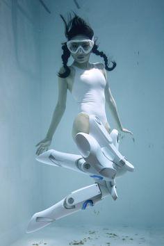Underwater girl cosplay fetish returns with Manabu Koga's Underwater Knee-High Girls plus Pose Reference Photo, Art Reference Poses, Underwater Photos, Underwater Photography, Art Manga, Arte Cyberpunk, Human Poses, Photography Series, Dynamic Poses