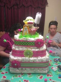 diaper cake for my cousin's baby shower