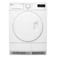 Dryer Type: Condenser  Capacity (Kg): 8  Wall mount option: no Energy Star Rating: 2  Energy consumption (KWhr/yr): 357 Type of controls: electronic rotary,electronic touchscreen  Options available: delicates setting,delay start,buzzer,drying time,auto sensing,timer drying,reverse tumbling action, wool load Type of display: LCD  Fabric type selection: cotton,synthetics,delicate, wool Dryer Lint filter position: front  Dryer Element watts: 2000  Dryer Safety thermostat heater: Yes