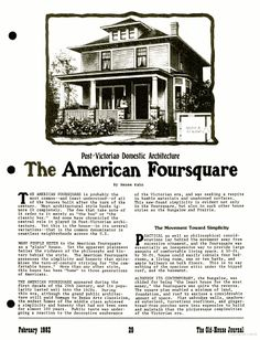 Favorite Foursquare HWBDO Craftsman House Plan From For - Craftsman foursquare house plans