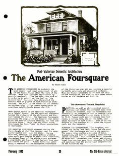 American Foursquare Design Details On Pinterest