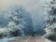 "windypoplarsroom: Ivan Aivazovsky ""Winter Landscape"""