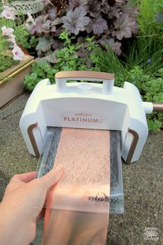 Copper die cutting with Spellbinder's Platinum 6