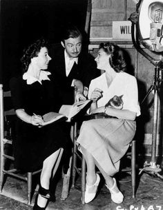 "Claude Rains and Ingrid Bergman, on the set of ""Casablanca"" (1942)."