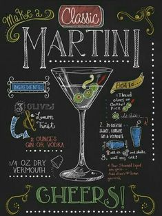 Martini by Fiona StokesGilbert is part of Cocktails - Martini by Fiona StokesGilbert This Martini Fine Art Print and related works can be found at FulcrumGallery com Vodka, Tequila Sunrise, Lettering, Chalkboard Art, Special Recipes, Face Cleanser, Mojito, Eyeshadow Makeup, Bartender