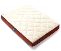 I found a Quilted Ortho Foam Burgundy & Tan Pet Bed, (36
