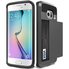 Galaxy S6 edge plus Case,Asstar [Stand Feature] Wallet case [Anti Scratch][Card Pocket] Dual Layer Shockproof [Soft Rubber Bumper] Hybrid Protective Card Case for Samsung Galaxy S6 edge plus (Black). Designed specifically for your precious Samsung Galaxy S6 Edge Plus. Case can accommodate 2 card or change,such as id card, credit card,Convenient for you to enjoy life. Fits perfectly on your phone and easy to put it in and pull it out. beautiful and fashion Precise cutouts fit your phone....