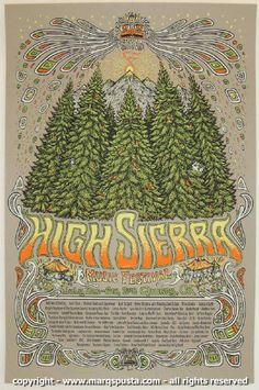 2008 High Sierra Music Festival Poster by Marq Spusta