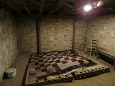 Underground Railroad Secret Rooms   ... hidden room in the basement. The room had a false wall, covered by a