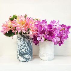 Happy Friday  #habitat101 #homedecor #canisters #marble #flowers #marblecanisters #weekend #lifestyle #style #homewares  @jumbledonline by habitat101