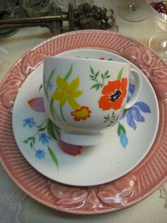 VINTAGE Teacup Weinrich Germany with Crown in blue by MOJEART