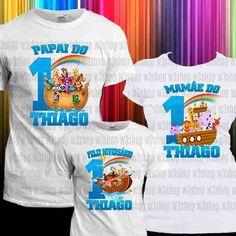Kit de Camisas para festa de Aniversário Fazemos Kits para 3, 4, 5, 6 e etc. Consultas mande um Zap 21 - (21)96467-5907 ✈Entregamos para todo Brasil ✈ Acesse: http://produto.mercadolivre.com.br/MLB-733710598-arca-de-noe-kit-aniversario-3x1-camiseta-tematica-festa-kids-_JM