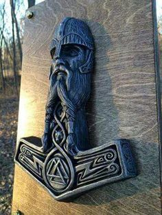 Thor's hammer carving work Lesson from Mjolnir Hammer of Thor in Norse Myth Reading between the lines of Norse mythology, there are lessons we can learn and apply to our life. Norse gods and creatures were not perfect. They had their shortcomings, either Viking Life, Viking Art, Viking Warrior, Viking Woman, Norse Pagan, Old Norse, Norse Mythology, 4 Tattoo, Norse Tattoo