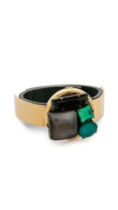 A Saffiano Leather Marni Horn Bracelet Make in Italy.......
