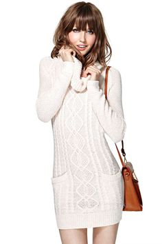 Life Saver Sweater Dress - Blush | Shop Sale at Nasty Gal