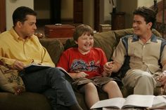 "Charlie Sheen and Angus T. Jones, ""Two and a Half Men"""