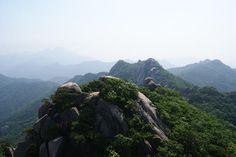 Bukhansan National Park- busy on weekends.