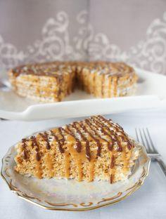 caramel wafer cake. one of my favorites.