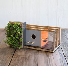 Bildergebnis für vogelfutterhaus mit stab modern bausatz