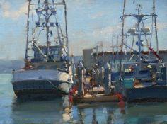 Jim McVicker   9x12 Fishing Boats, Eureka, Ca