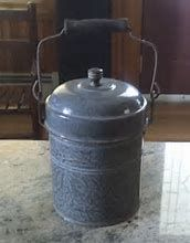 Image result for vintage enamelware lunch pail