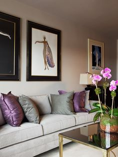 Purple interiors on pinterest purple interior drum lamp for Purple and silver bedroom designs