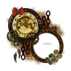 61Kim.png ❤ liked on Polyvore featuring steampunk, clocks, frame, fillers, backgrounds, circle, effect, circular, borders and picture frame