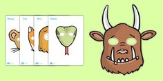 The Gruffalo Role Play Masks - The Gruffalo, resources, mouse More