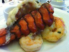 Lobster night On a Carnival Cruise. Yummm!
